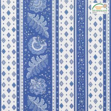 Tissu provençal bleu