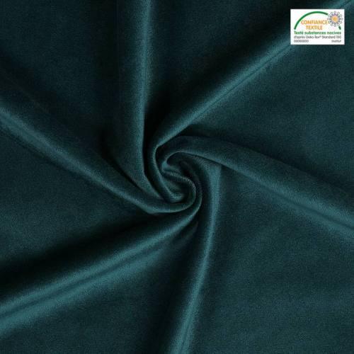 Velours teflon uni bleu canard 450 gr