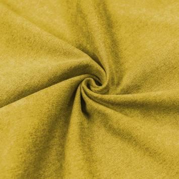 Toile aspect velours vert anis
