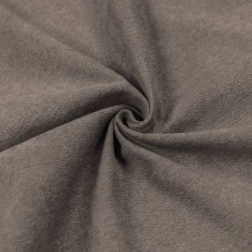 Toile aspect velours gris