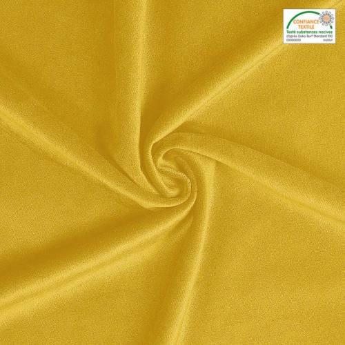 Velours teflon uni jaune 450 gr