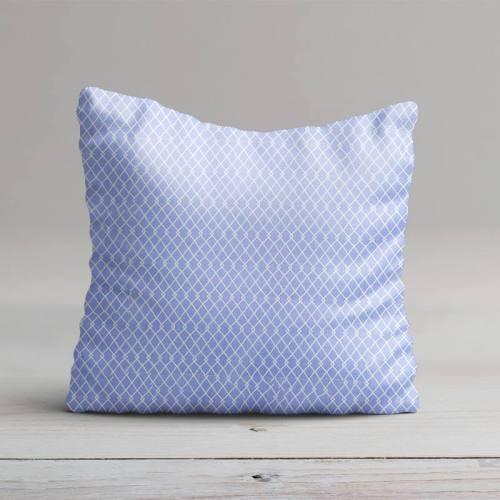 Coton bleu lavande jean motif etnia