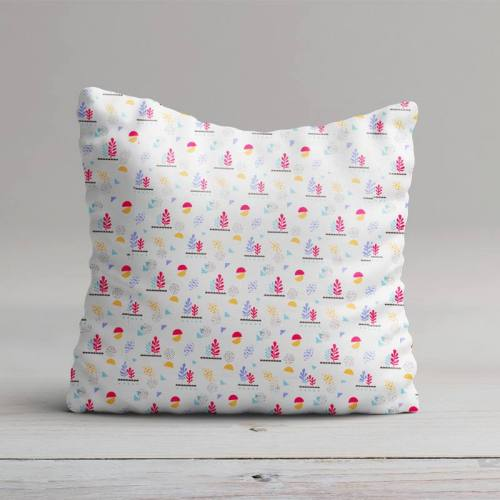 Coton blanc motif lirima violet