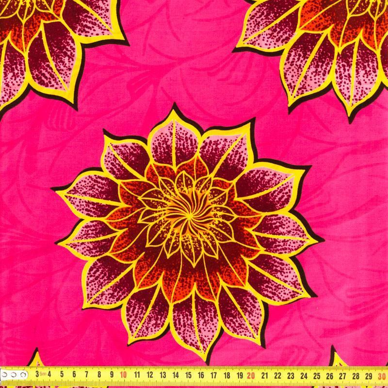 wax tissu africain enduit rose fleurs 175 pas cher tissus price. Black Bedroom Furniture Sets. Home Design Ideas