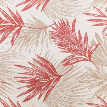 Jacquard jungle zilar beige et rouge