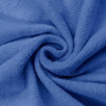 Tissu éponge bleu