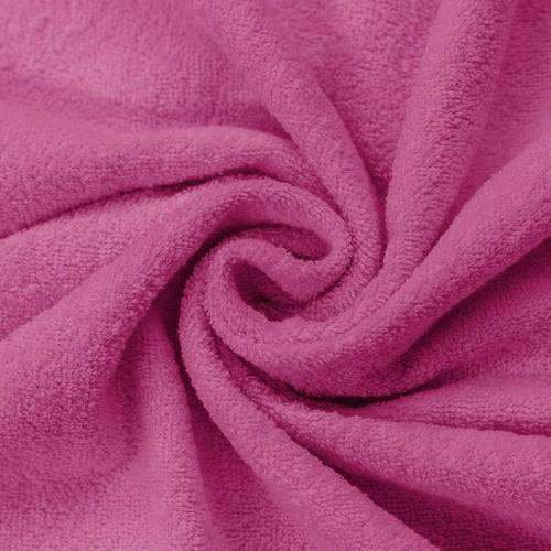 Tissu éponge rose