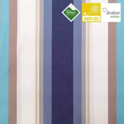 Toile extérieur téflon grande largeur mentoue bleu