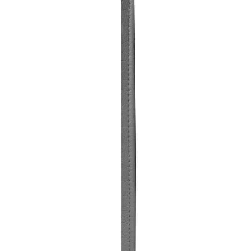 Passepoil simili cuir gris