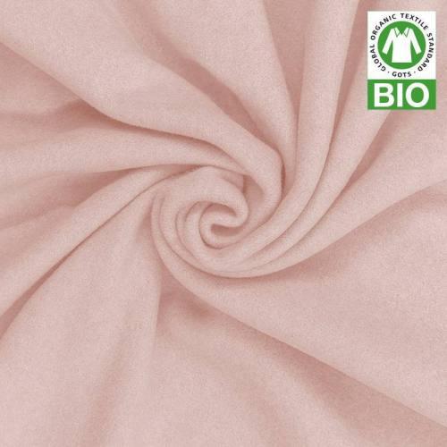 Polaire bio rose pastel 100% coton