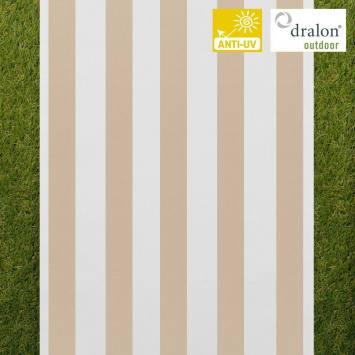 Toile transat rayé blanc et beige