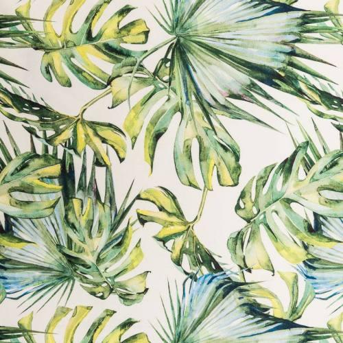 Velours botanic blanc