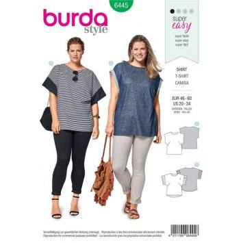 Patron Burda 6445 : T-shirt taille 46-60
