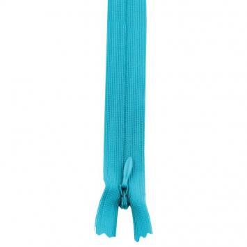 Fermeture à glissière invisible 22 cm col 142 bleu turquoise