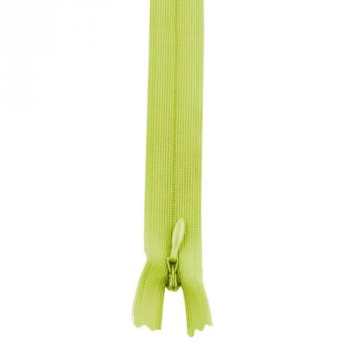 Fermeture à glissière invisible 22 cm col 177 vert pomme