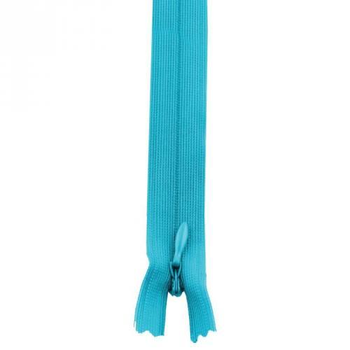 Fermeture à glissière invisible 60 cm col 142 bleu turquoise