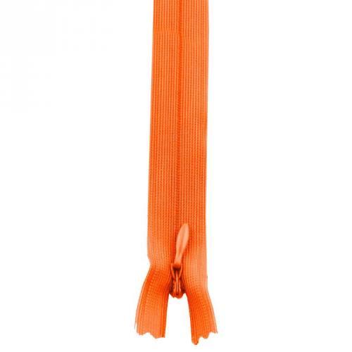 Fermeture à glissière invisible 60 cm col 120 orange