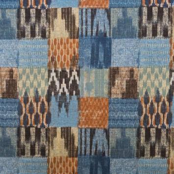 Toile polycoton grande largeur motif ethnic