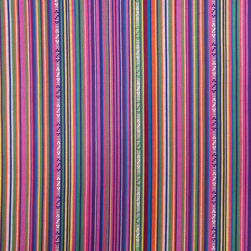 Tissu mexicain multicolore violet