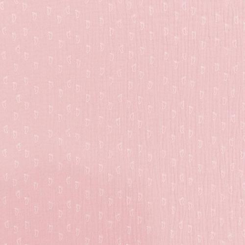 Double gaze rose imprimée pied