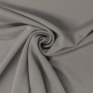 Tissu scuba crêpe vert de gris