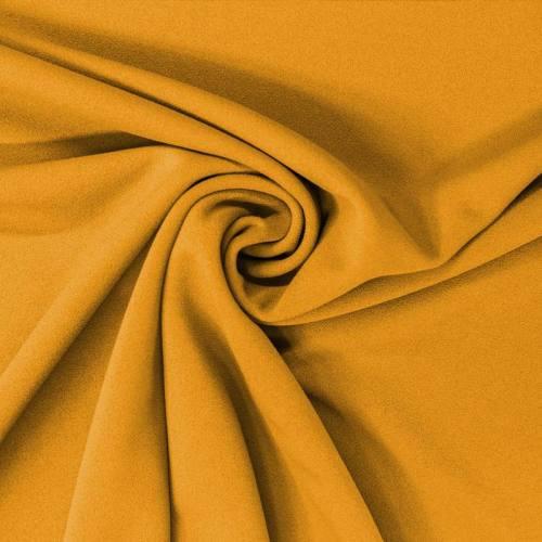 Tissu scuba crêpe ocre