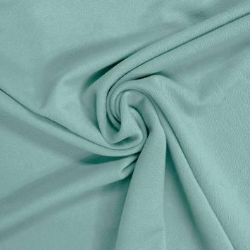 Tissu crêpe stretch vert d'eau