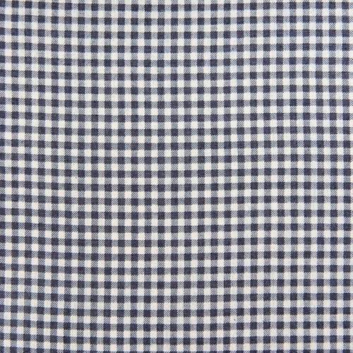 Tissu jean foncé motif petit carreau