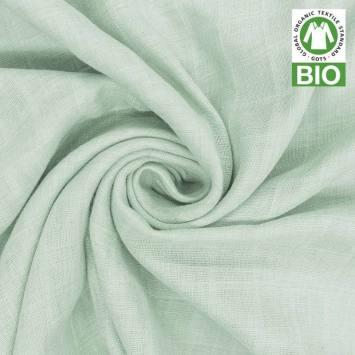 Coton bio pour lange bébé vert
