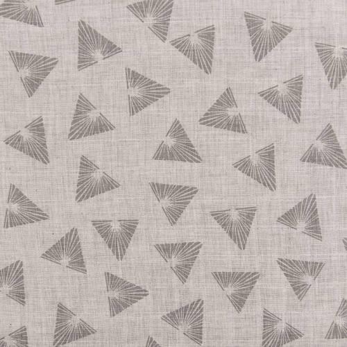 Coton bio pour lange bébé gris motif triangles