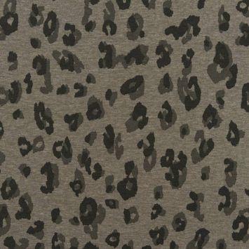 Jersey vert chiné imprimé léopard