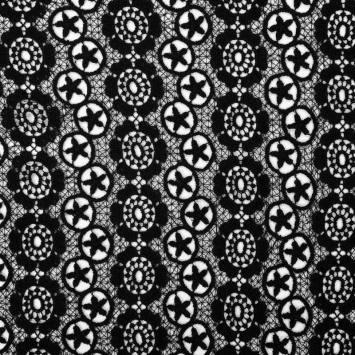 Dentelle guipure noire motif Los Angeles