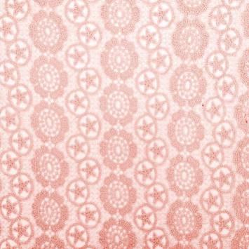 Dentelle guipure rose motif Los Angeles
