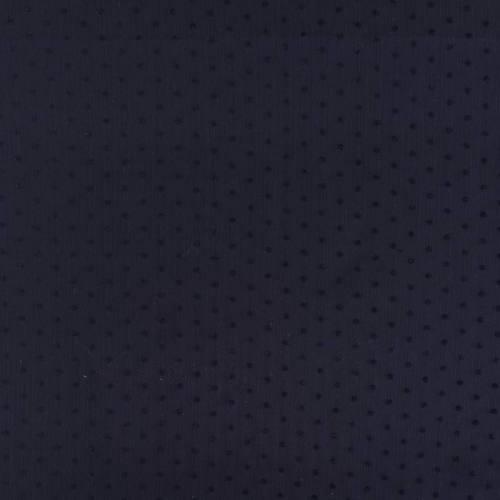 Voile bleu marine à pois de velours