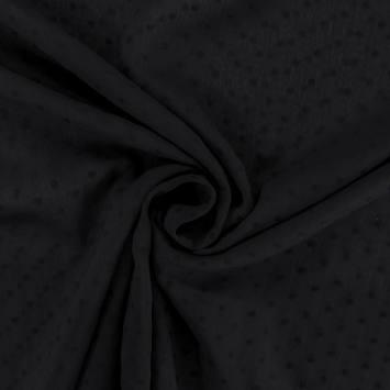 Voile noir à pois de velours