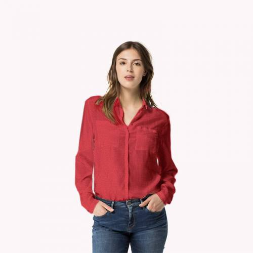Jersey crêpe rouge