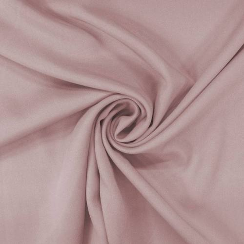 Tissu viscose twill rose poudré