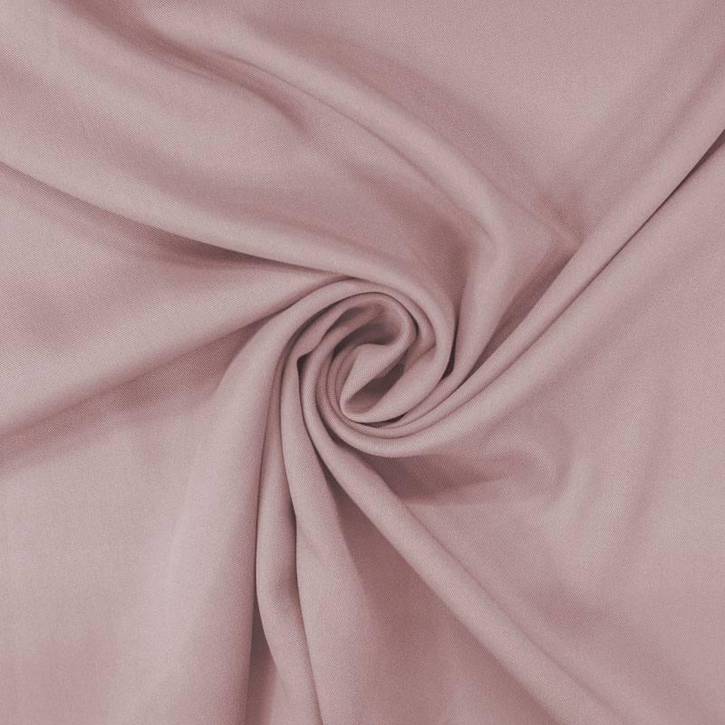 Tissu viscose twill rose poudré