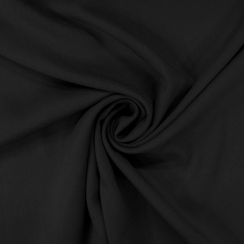 Tissu viscose twill noir