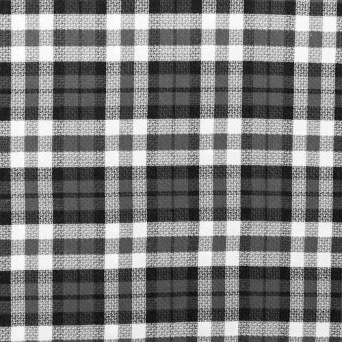 Tissu viscose imprimé carreau noir