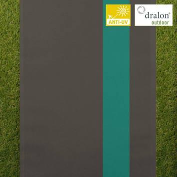 Toile transat gris foncé et turquoise