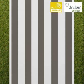 Toile transat rayé blanc et gris foncé