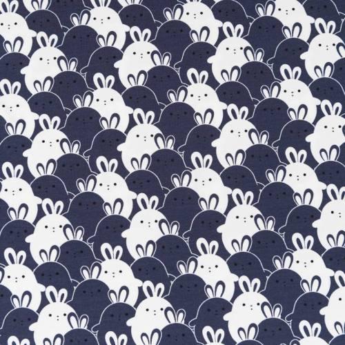 Jersey motif lapins blancs et bleus