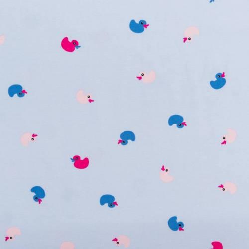 Jersey bleu motif canards bleus et roses