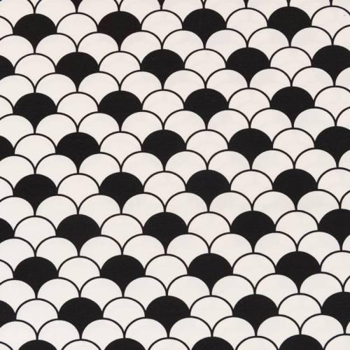 Jersey motif écaille noire et blanche