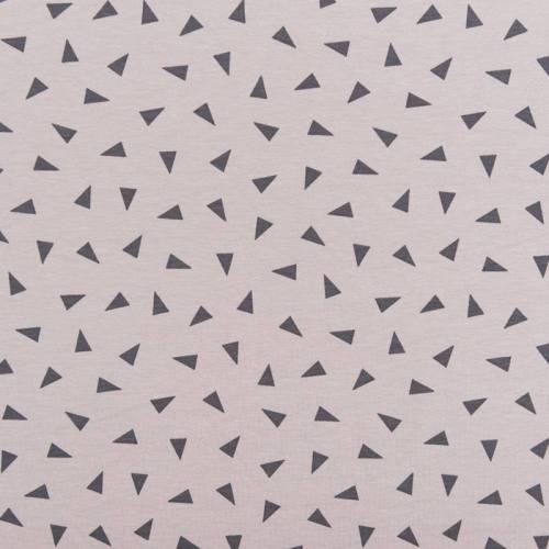 Jersey gris motif triangle gris