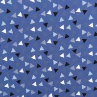 Jersey bleu motif triangle blanc, noir et bleu