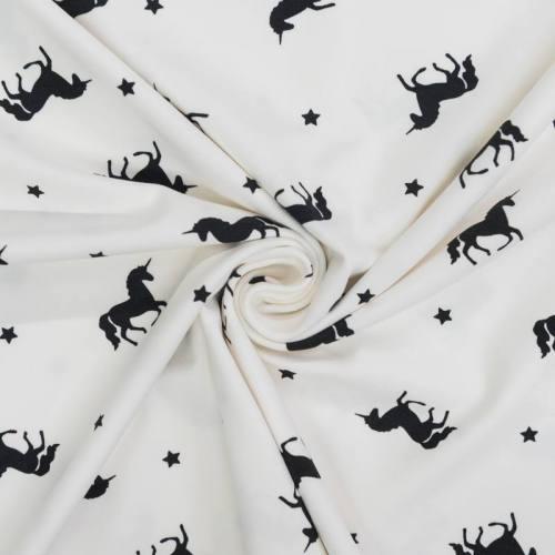 Jersey blanc motif licorne et étoile