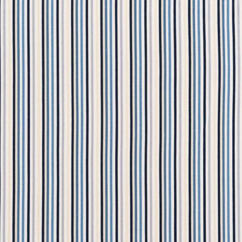 Jersey blanc motif rayures bleues et sables