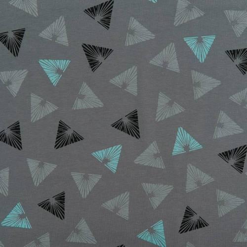 Jersey gris motif triangle ajouré